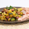 ZUCCHINI AND POTATOES WITH MORTADELLA BOLOGNA PGI